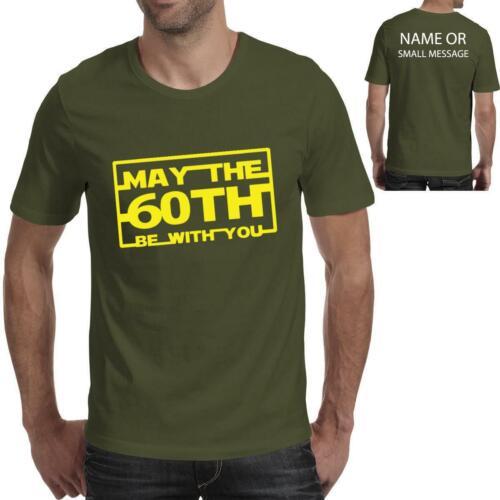 60th Birthday Mens Funny Star Movie T shirt Wars Printed T-Shirt 60
