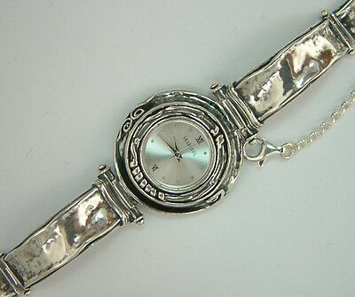 W00664 SHABLOOL ISRAEL Didae Handcrafted Sterling Silver 925 Bracelet Watch
