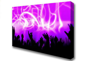 Rave Lights Pink Dance Canvas Print Wall Art A1 Size 04148 - UK, United Kingdom - Rave Lights Pink Dance Canvas Print Wall Art A1 Size 04148 - UK, United Kingdom
