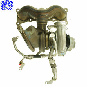 FRONT-EXHAUST-MANIFOLD-TURBO-CHARGER-TURBOCHARGER-ASSEMBLY-UNIT-BMW-E60-LCI-535i