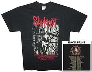 OFFICIAL-LICENSED-SLIPKNOT-SKELETON-PREPARE-FOR-HELL-TOUR-T-SHIRT-METAL