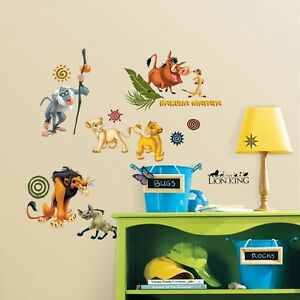 48 New Lion King Wall Stickers Disney Bedroom Decals Room