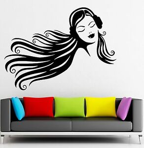 Details about Music Wall Stickers Teen Girl Headphones Beautiful Decor  Vinyl Decal (ig2375)