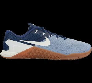 35c704b3c54 Nike Men Sz 13 Metcon 3 Shoes Glacier Grey Binary Blue Summit White ...