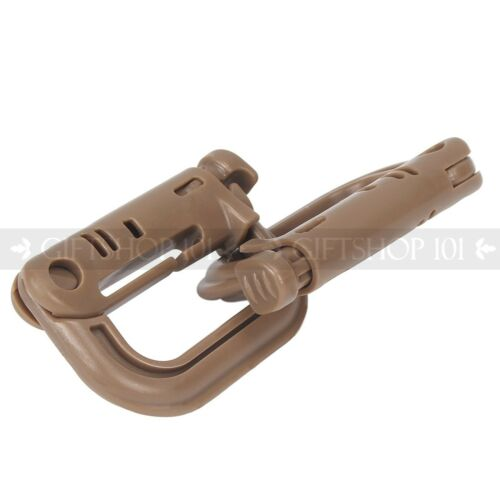 Strong Plastic Camping Carabiners Tactical Keychain Spring Snap Hook Pack of 6