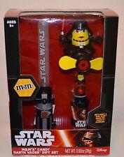 M&M STAR WARS Darth Vader Gift Set Red Light-up Saber & Fan MM CANDY Dispenser