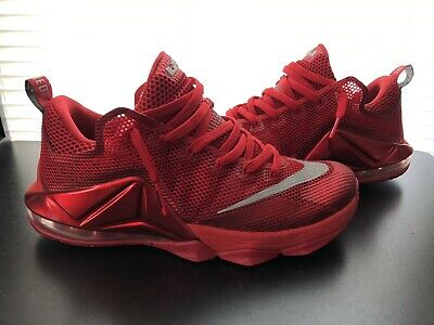 new product 9d87d 52e73 NIKE LEBRON 12 LOW XII SIZE 10 Mens University RED SILVER ...
