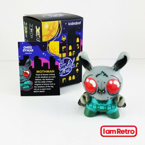 "Mothman City Cryptid Dunny Series 3/"" Vinyl Mini Figure by Kidrobot New"