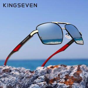 KINGSEVEN-Aluminum-Men-039-s-Sunglasses-Polarized-Lens-Brand-Design-Temples-Sun