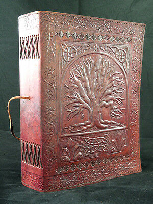 Large TREE of LIFE Handmade Leather Journal Sketchbook, Pages of Cartridge Paper