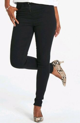 Simply Be Black Jeans High Waist Skinny Model Lucy UK 12 Jeggings