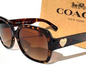 f38d531bf7 NEW  Coach TORTOISE Designer frame w GOLD HEART Women s Sunglass ...