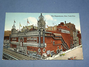VINTAGE 1916  HIPPODROME  NEW YORK   POSTCARD