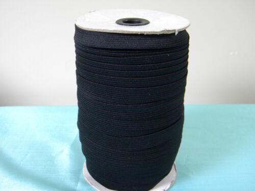 "Black Knitted Elastic ~144 Yard//Roll~New~Black Elastic Inch 1//2 /"""