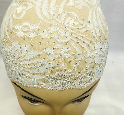 Lace DIAMANTE Bonnet/Tube Under Hijab/Scarf Cap, Beautiful Colours