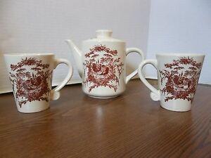 classic ceramics california pantry 2002 Teapot kettle 2 cups mugs ...