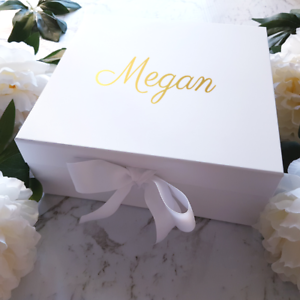 Details About Wedding Bridesmaid Proposal Box Personalised White Gift Present Keepsake Box