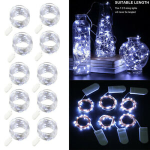 10x 6.6ft 20 LEDs Mini LED Copper Wire String Fairy Lights Battery Operated Xmas