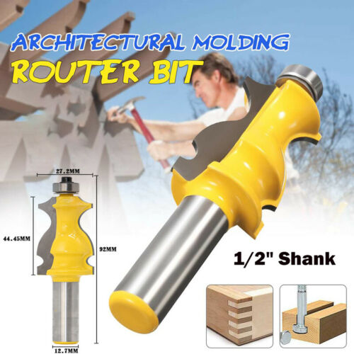 1//2″ Shank Fishtail Handrail Router Bit Woodwork Trimming Milling Cutter Tool