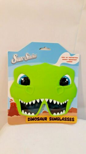 Sun Staches Dinosaur Sunglasses Kids 100/% UV Protection impact resistant lenes