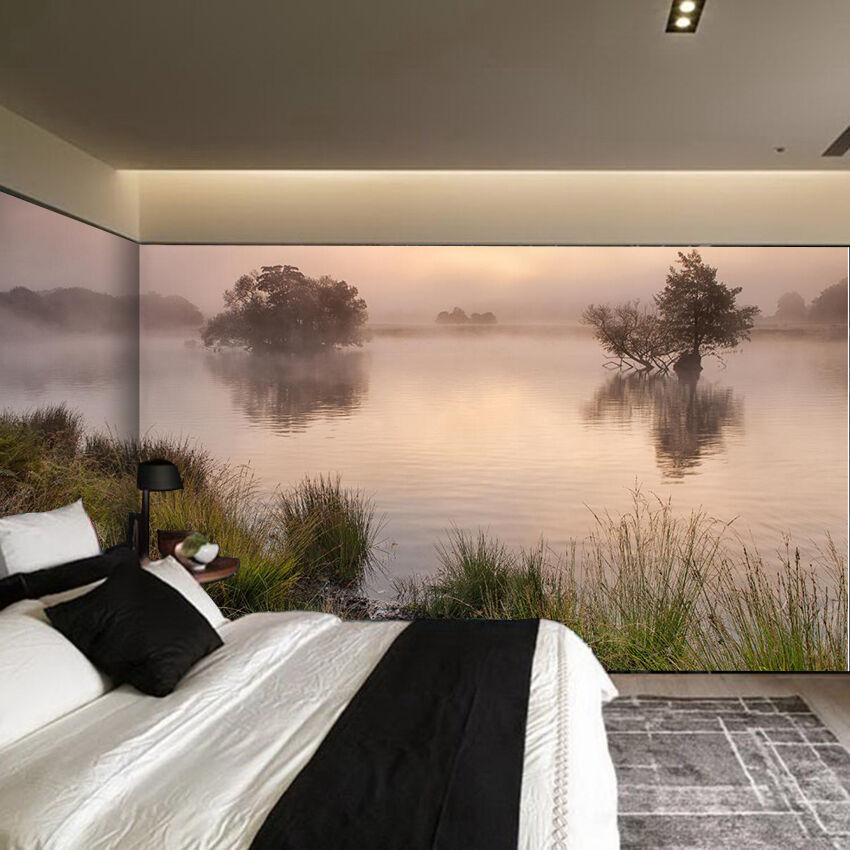 3D Water trees 2566 Wall Paper Wall Print Decal Wall Deco Indoor Wall Murals