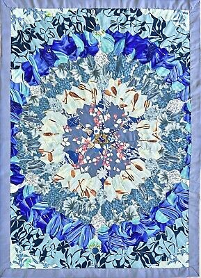 """Stamped White Wall Or Lap Quilt 36/""""X36/"""" Sampler 013155700046"""