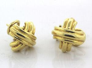 Tiffany-amp-Co-18k-Yellow-Gold-Signature-X-Earrings-8-1g