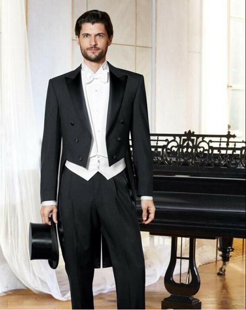 Man Suits terno masculino Long Tailcoat, Wedding Tuxedo for Groomsmen