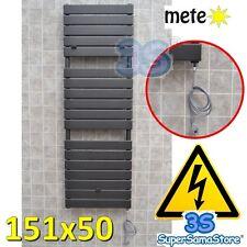 3S TERMOARREDO ELETTRICO 151x50 METEO ANTRACITE SCALDASALVIETTE con RESISTENZA