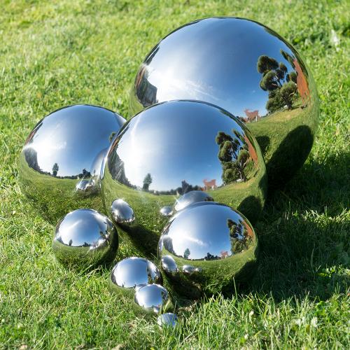 Edelstahl Kugel Schwimmkugel Silberkugel Garten 4-100 cm