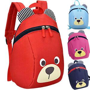 Baby-Kids-Cartoon-Bear-Backpack-School-Bags-Boys-Girls-Bookbag-Backbag-Zipper