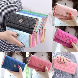 Women-Ladies-Leather-Wallet-Long-Zip-Purse-Card-Holder-Case-Phone-Clutch-Handbag