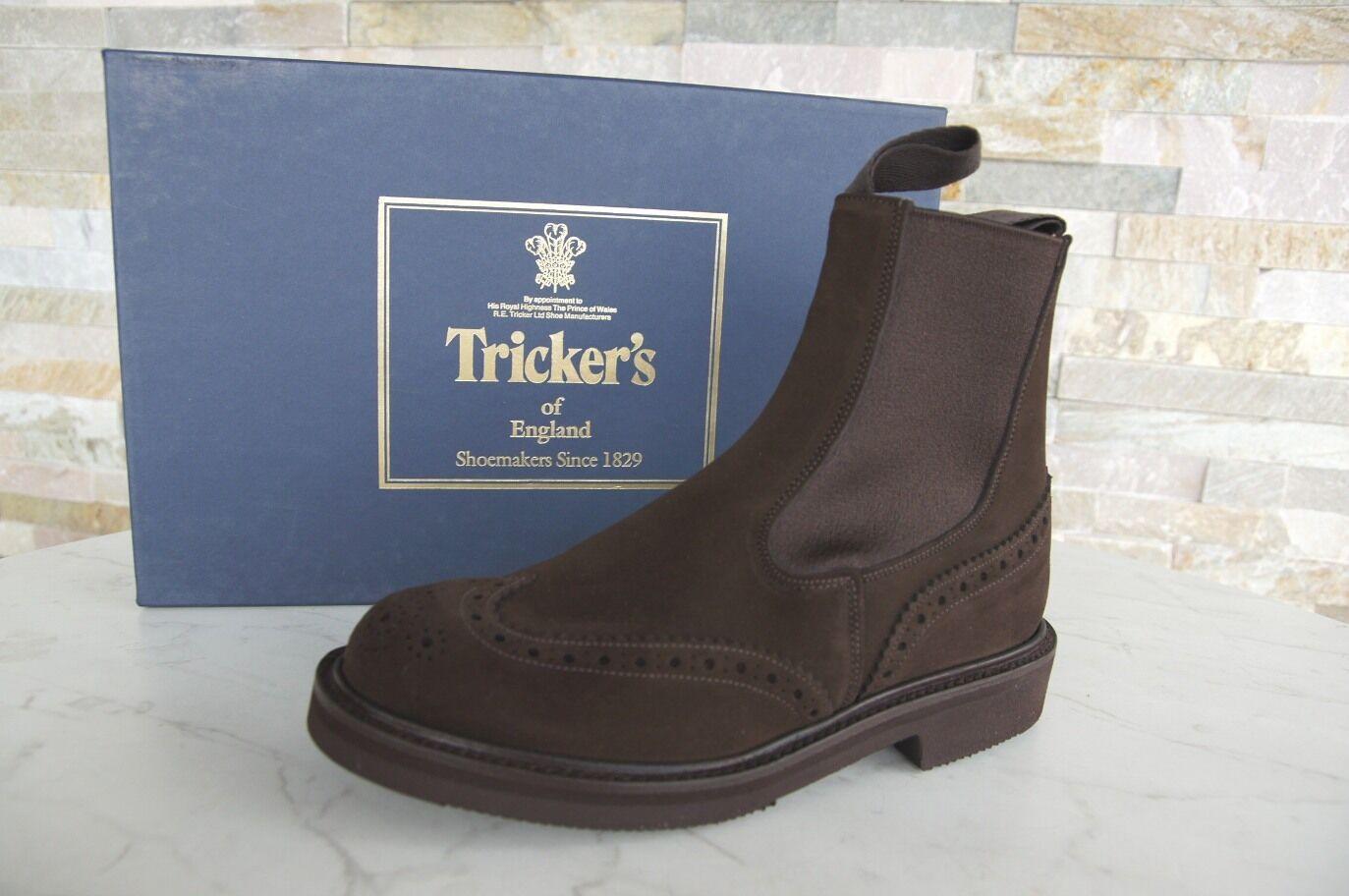 Tricker's talla 37,5 4,5 botines botas chelsea zapatos café recién ex PVP