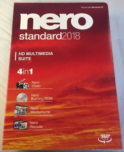Details about Nero 2018 Standard Multimedia Suite for Windows - 4 Programs  in One! NEW