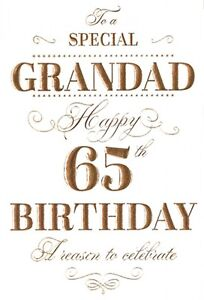 Image Is Loading 65th GRANDAD BIRTHDAY CARD AGE 65 QUALITY