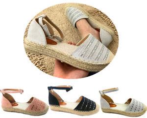 New-Women-Lady-Platform-Sandals-Espadrille-Ankle-Strap-Comfy-Summer-Shoes-sz-3-8