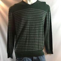 Bowen & Wright Green & Grey V-neck Long Sleeve Sweater Men's Size Large