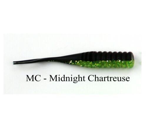 "Jenko Fishing 2/"" Mermaid Jig JNMJ2MC Midnight Chartreuse Count 45"