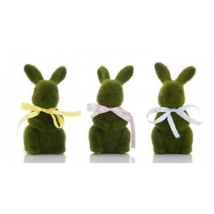 Florabelle-MOSS-BABY-BUNNY-WITH-BOW-17-cm-Cottage-Home-Rabbit-Xmas-Gift