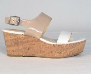 938302d6a1 Image is loading Calvin-Klein-Lorianne-Nude-amp-Antique-White-Patent-
