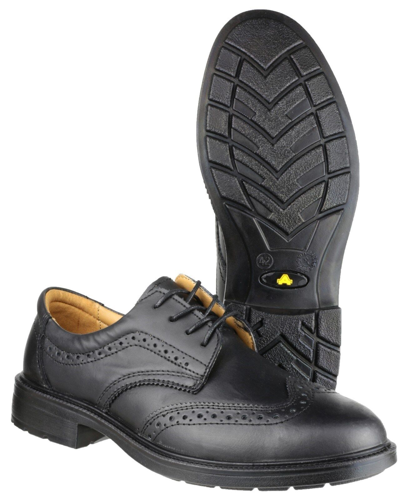 Amblers FS44 Safety shoes Smart Steel Toe Cap Industrial Mens Work Brogues