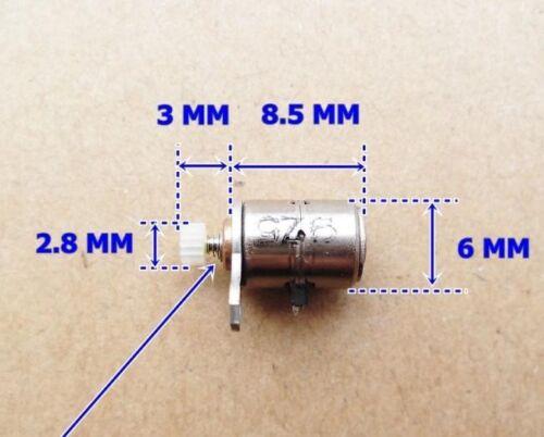 2pcs DC Micro Digital Camera Stepper Motor 6x5.5mm with Copper Gear