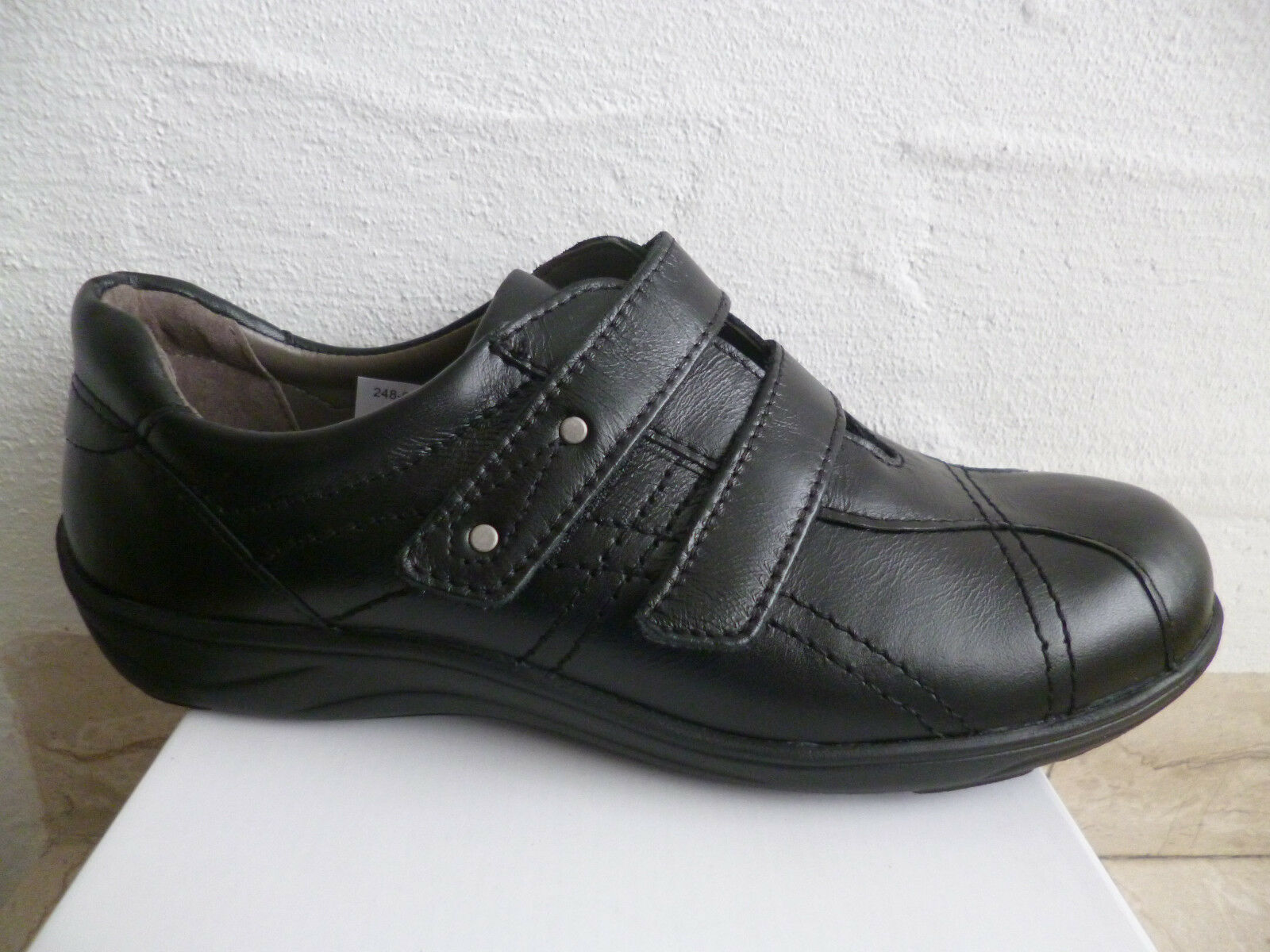 Frankenschuhe schwarz Damen Slipper Halbschuhe, Sneakers, schwarz Frankenschuhe Leder  NEU c24837