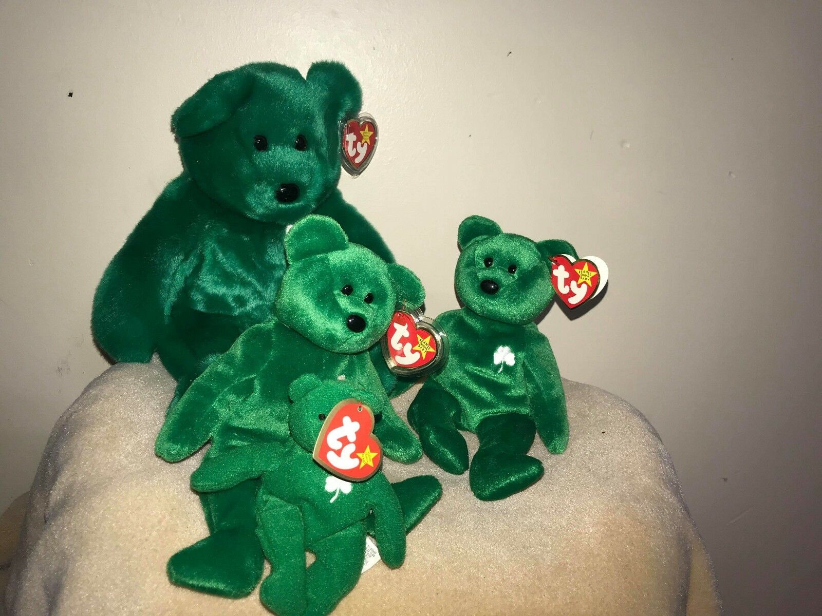 All different kinds of beanie babies special edition and all are in Great condit