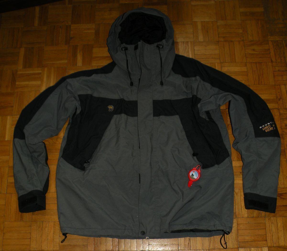 Mountain Hardwear XL Grigio Giacca con con con Cappuccio da Uomo Tubo Prossoettivo Giacca Campeggio hikking 3edeba
