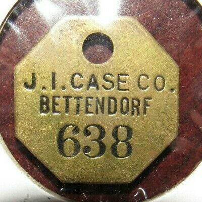 J BETTENDORF IA IOWA PLANT ~ BRASS TOOL CHECK MARKER // TOKEN I CASE CO 3