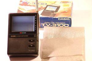 """Molto RARO CASIO TV-3100 Handheld TV a colori LCD 3.3"""""""