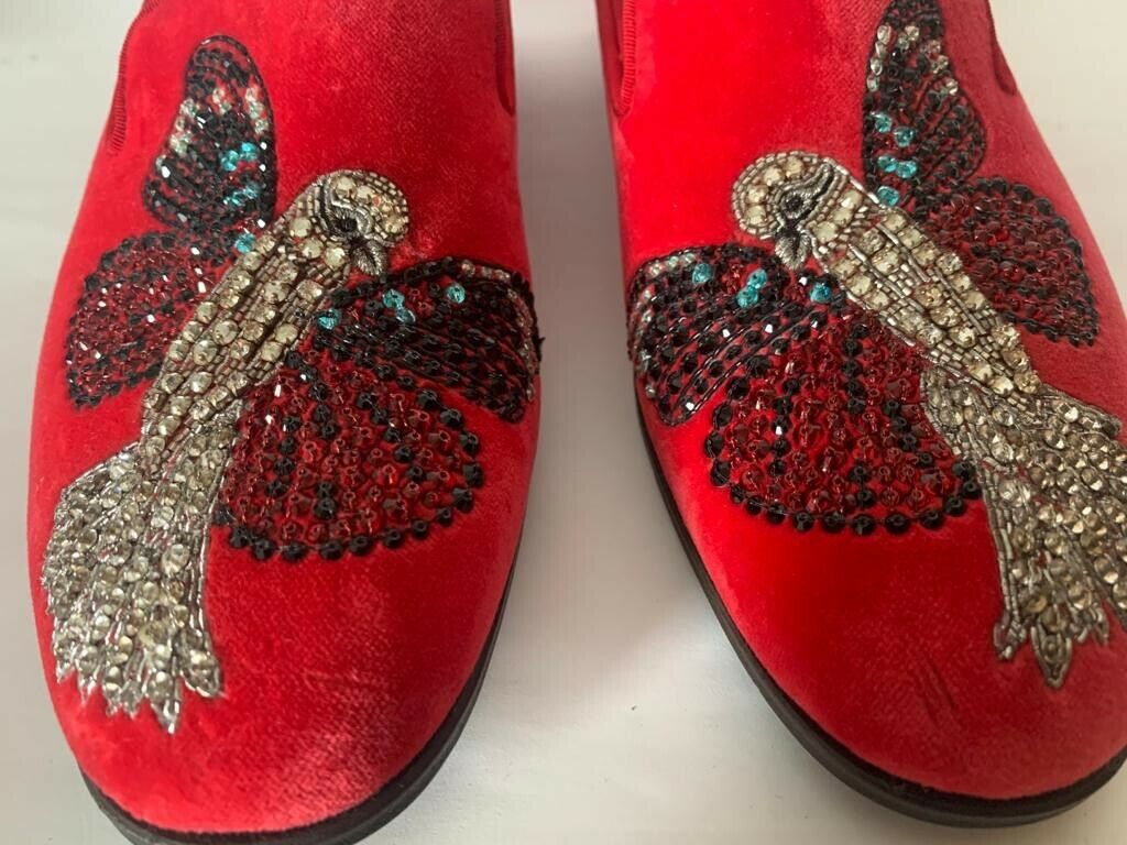 Alexander mcqueen women shoes. Size 37. Flat. Embroidered Birds, Limited. New