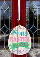 Easter Egg Bunny Door Wreath Wall Hanging Decor Swag Floral Gift Pick 13 Chic