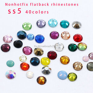 1769338169ff6 Details about ss5 czech crystal No hotfix flatback Nails rhinestone 3D Nail  Art Decoration 144